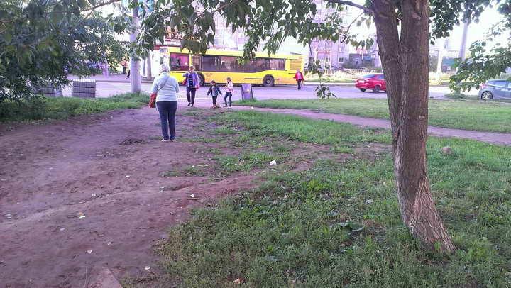 тротуар Клубная 79 - остановка (до)_720